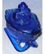 Westmoreland Style Cobalt Glass Santa Sleigh Co... - $19.95