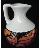 Ute Mountain Mtn Indian Art Pottery Carafe Pitcher Jug Signd - $19.50