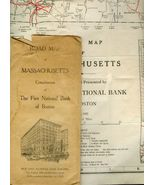 Large 1922  ROAD MAP of Massachusetts First Ban... - $10.00