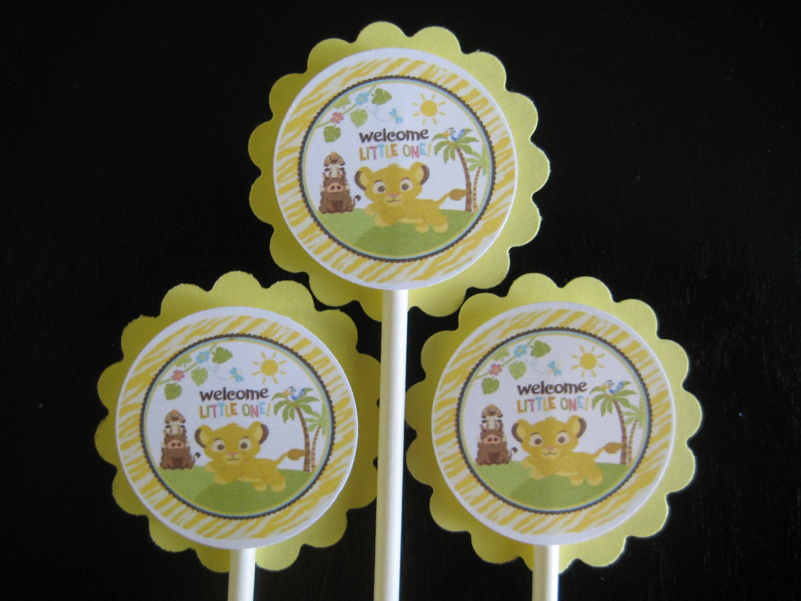 Lion King Baby Shower Cupcake Toppers