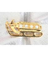 Avon Festive Crystal Rhinestone Golden Sled Chr... - $9.95