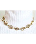Kramer 60s Rhinestone Flower Necklace mid centu... - $46.00