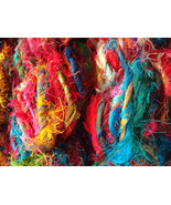 Recycled sari silk yarn crochet knitting thread... - $142.19