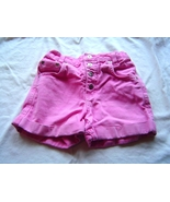 Girls Size 6X Pink Denim Snap Front Jean Shorts - $4.95
