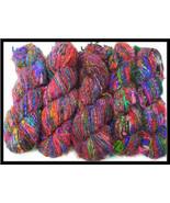 Recycled soft Silk yarn for crochetting 40 skei... - $121.49