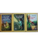 Nancy Drew 3 LOT mystery #1, 2, & 3 hcdj 1976 B... - $10.00