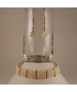 Hand Woven Bead Choker and Earring Set with Mot... - $40.00