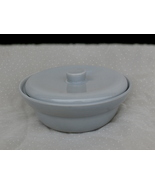 Mid Century Modern Gray Bowl with Lid Vintage Dish - $19.99