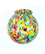 Art Deco Lamp Shade Globe Glass Figural Radio T... - $34.95