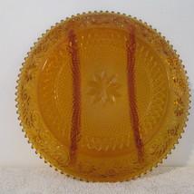 VintageTiara Indiana Glass Divided Amber Relish... - $24.99