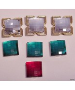 lot of 7 Jeweled Button Covers Gorgeous Colors - $15.95