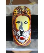 Fabulous Boho Handpainted Wooden Lion Leo Bangl... - $24.95