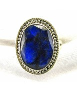 Classic Natural Blue Sapphire hand facet Oval S... - $75.84