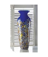Royal Blue with Bright Colors Flower Vase Tall ... - $41.71