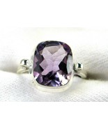 Table-Top Faceted Rectangle Purple Amethyst Rin... - $78.19