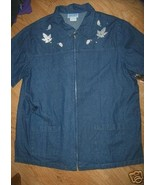 Ladies JACLYN SMITH Sport Jean Shirt XL Zipper ... - $9.99