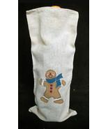 NEW Linen Cloth Ginger Bread Man Wine Liquor Bo... - $5.93