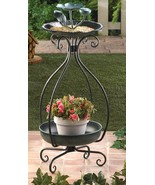 Metal BIRDFEEDER and PLANTER 32 inch high multi... - $27.55