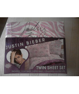 Justin Bieber Twin Size Sheet Set - $20.00