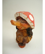 hand carved tiny wooden  troll figure-possible ... - $80.00