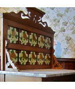 Gorgeous 3-D Majolica Tiled Back Marble Top Ant... - $685.61