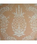 9sr Creamy Coral Pineapple Stencil Waterhouse W... - $285.12