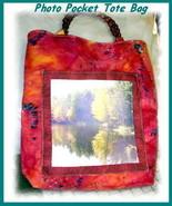 *Customized Photo Pocket Tote Bag* - $40.00