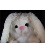 Plush White Bunny Rabbit Stuffed Animal Toy Flo... - $9.99