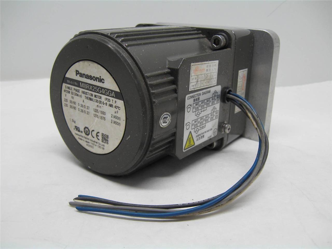 Panasonic M8rx25g4gga Single Phase Induction Motor Other Electric Motors
