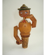 figural wooden bottle stopper-possible Anri - $80.00