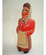 hand carved tiny wood figure-possible Anri - $80.00