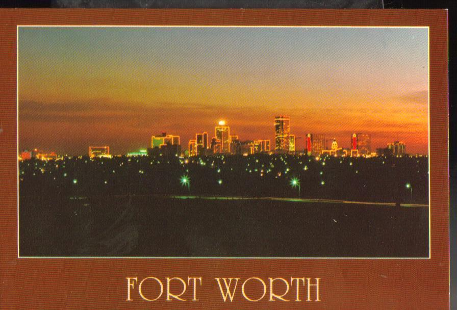 Fort worth texas postcard for Fish store fort worth