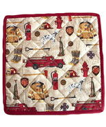 Firefighter Hot Pad, handmade fireman potholder... - $14.95