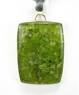 Rectangle of Natural Green Aquamarine inside Qu... - $116.16