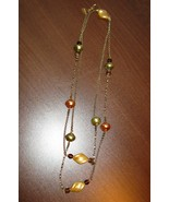 Beautiful Gold & Silver Pearl Necklace by Rache... - $11.99