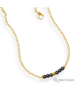 Handcrafted Hematite Bar Design Necklace - $54.98