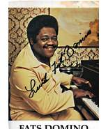 Small Autographed Photo of Fats Domino RP - $6.75