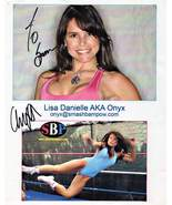 8 X 10 Autographed Photo of Lisa Danielle AKA ONYX - $5.00