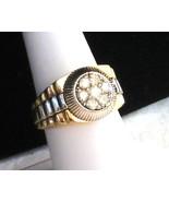MEN'S DIAMOND CLUSTER RING 10kt 2 TONE 7.96gram... - $549.23