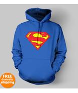 Superman Hoodie Man of Steel Superhero Hallowee... - $29.95