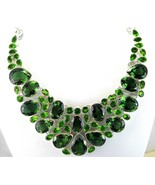 Table-Top Faceted Green Tears of Quartz + Perid... - $377.28