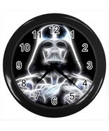 NEW DARTH VADER STAR WARS Round Black Wall Cloc... - $20.95