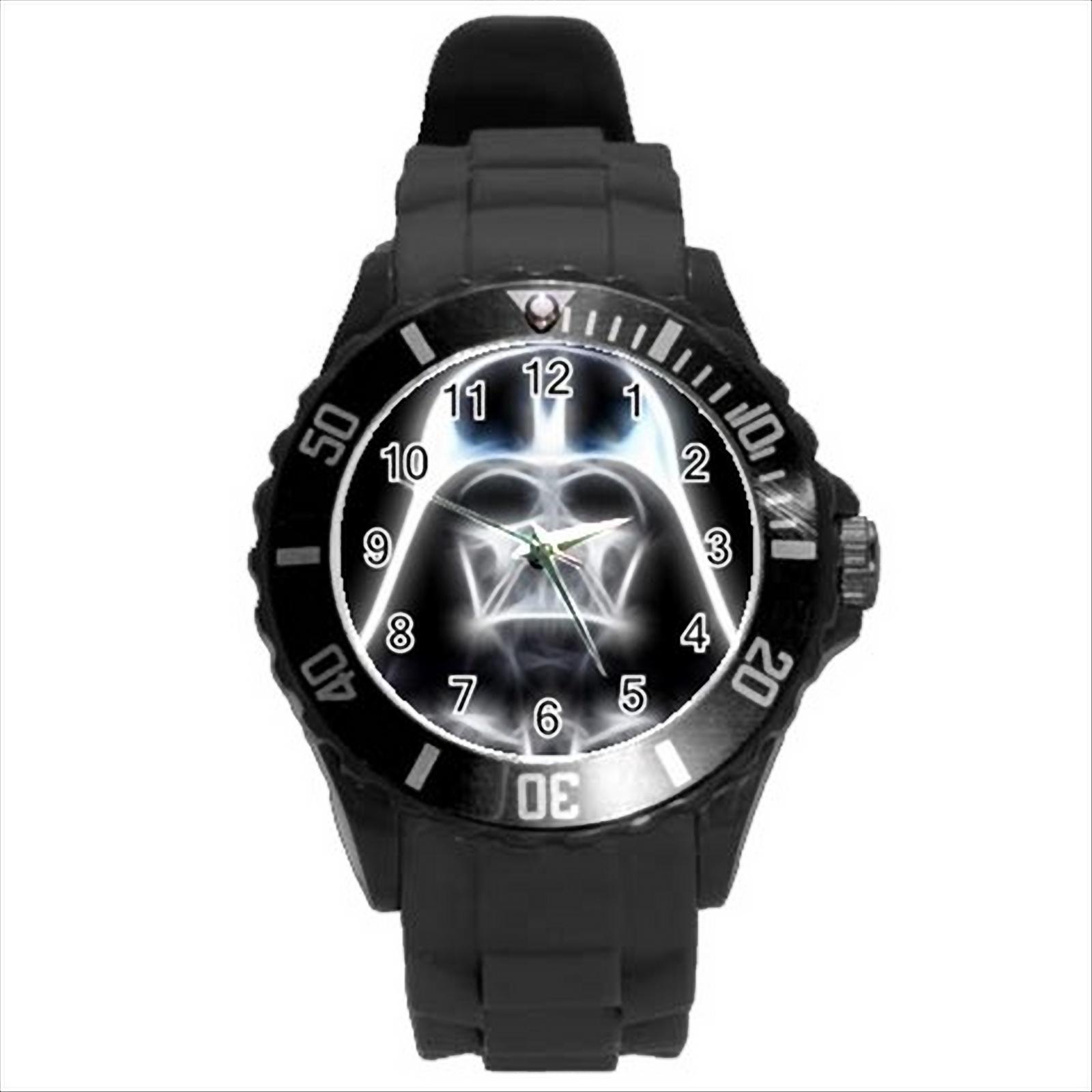 New hot darth vader star wars black round sport wrist watch gift