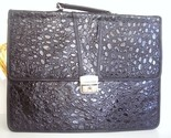 Buy Briefcases - Fabulous Leather Briefcase with Embossed Alligator Grain