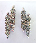 NEW Clear Crystal Rhinestone & Silver Tone Meta... - $7.91