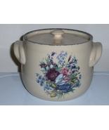 Home And Garden Party  Bean Pot Floral Splendor... - $24.99