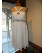 City Triangles size Large  White Beaded Cocktai... - $39.99