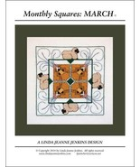 Monthly Squares March cross stitch card chart L... - $6.00