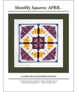 Monthly Squares April cross stitch card chart L... - $6.00