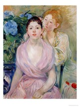 22x28 Berthe Morisot L'Hortensia or The Two Sis... - $46.05